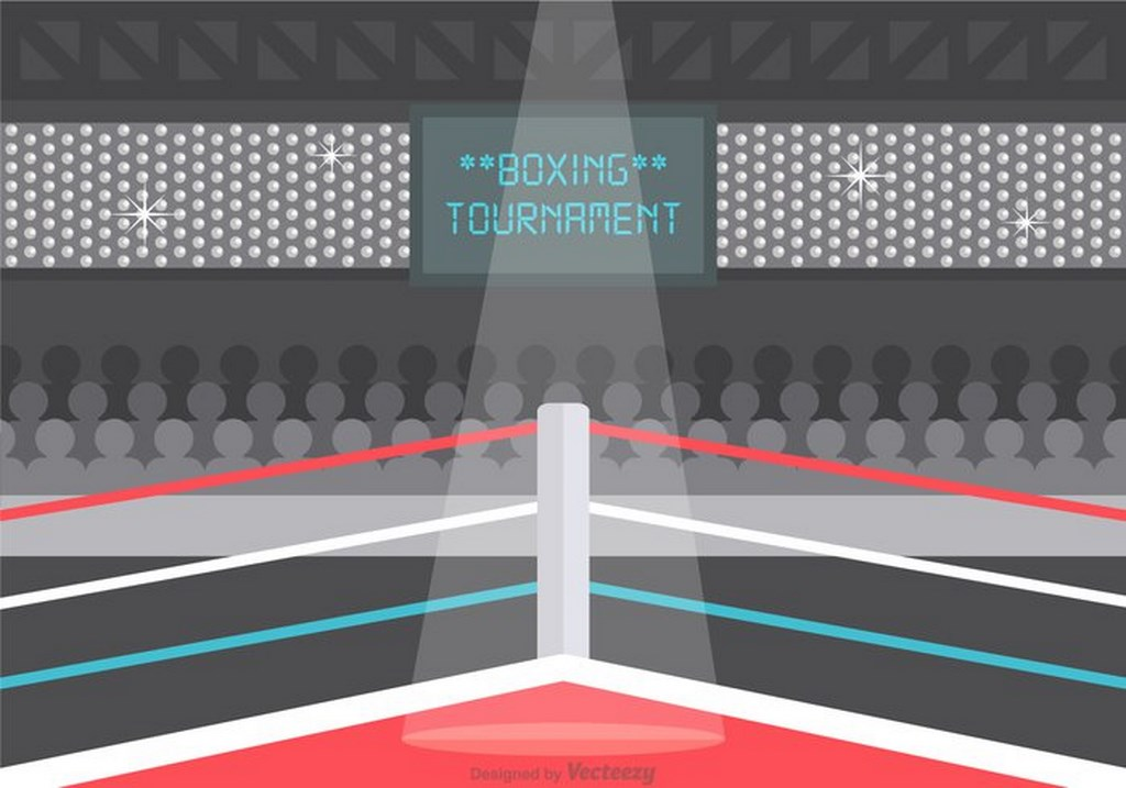 1024x717 Free Vector Wrestling Ring Illustration Free Download Ai Files