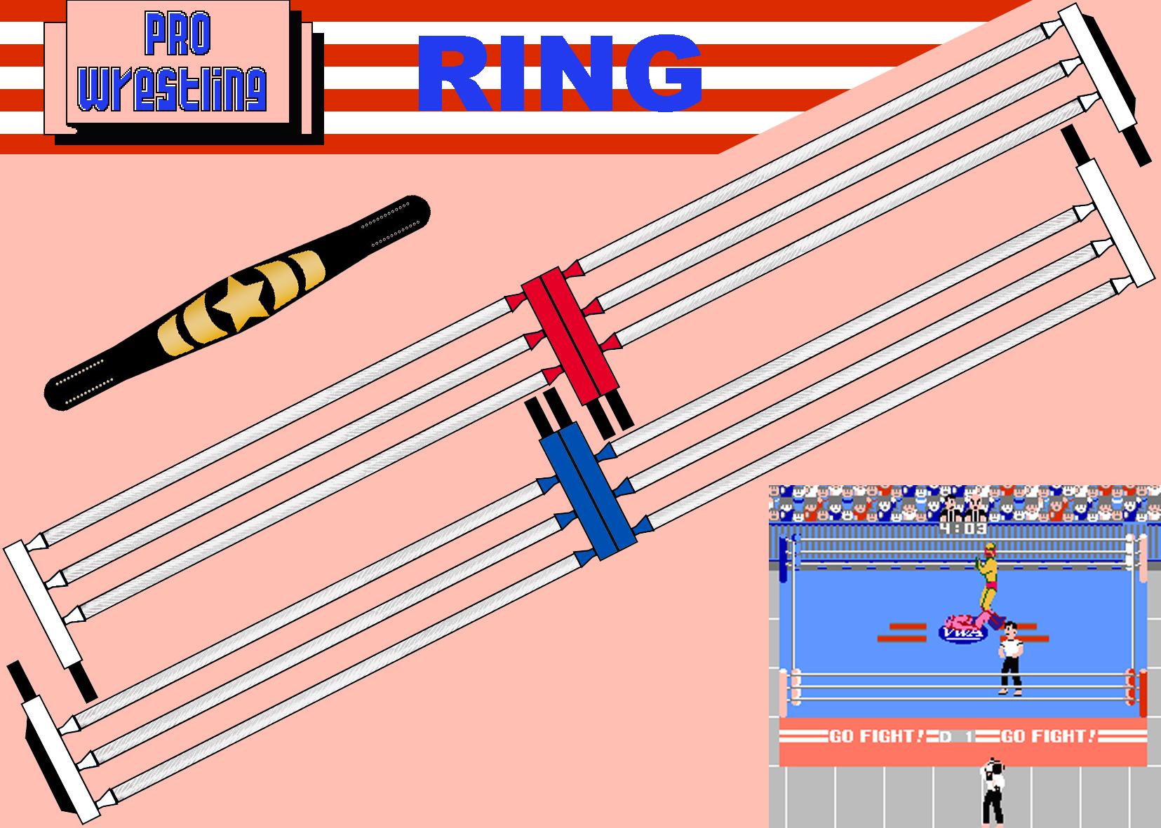 1655x1181 Nes Pro Wrestling Ring Belt 2 By Saikyo Master