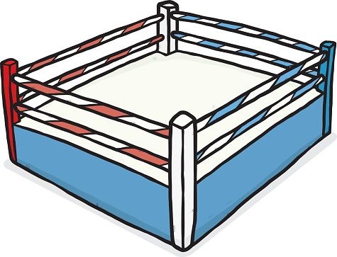 475x363 Pretty Wrestling Ring Cartoon Vector Clipart Of Boxing Ring Boxing