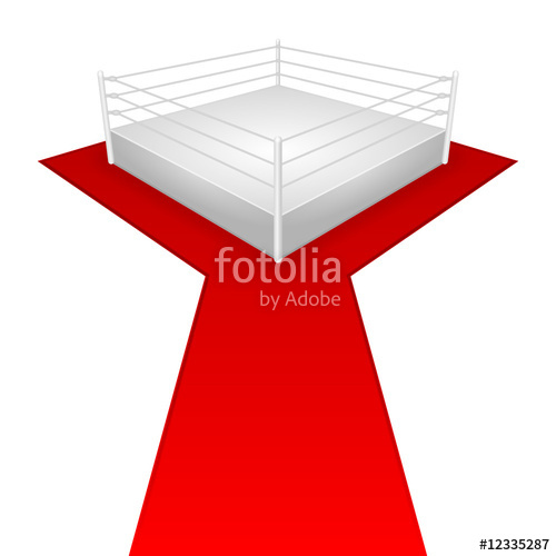 500x500 Wrestling Ring (Weisser Hintergrund) Stock Image And Royalty Free