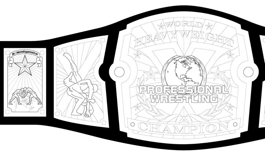 900x530 Collection Of Wrestling Belt Drawing High Quality, Free