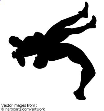 335x355 Download Wrestling Throw Silhouette