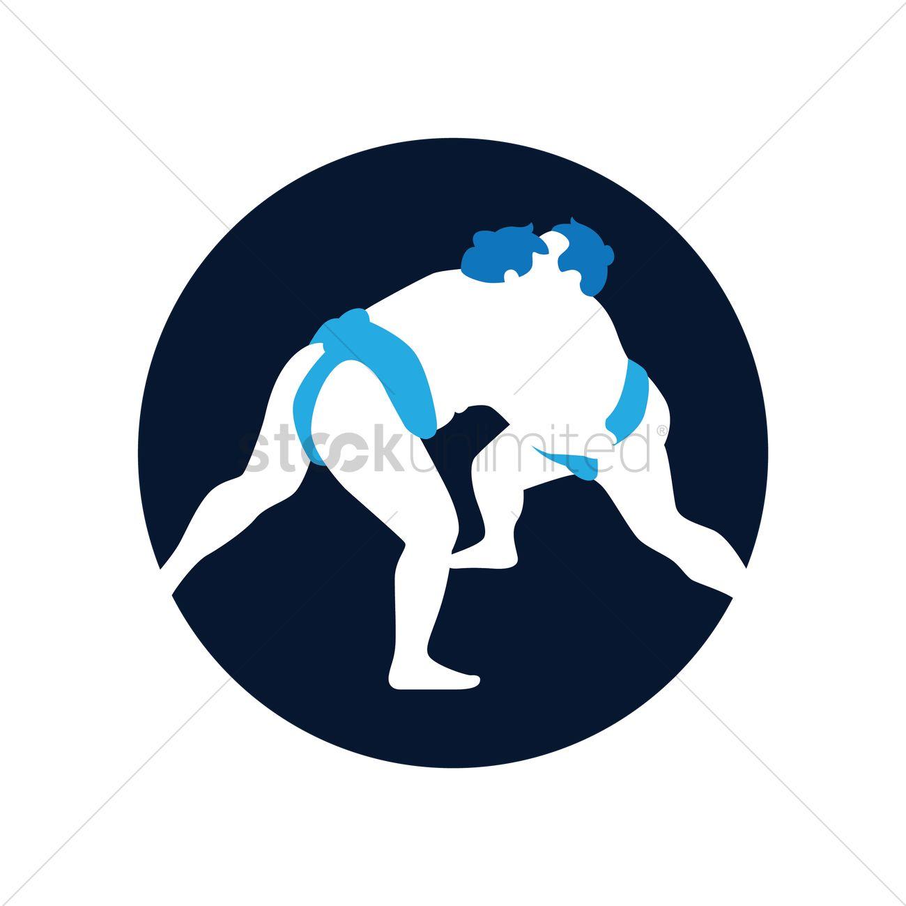 1300x1300 Sumo Wrestling Vector Image