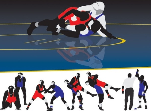 503x368 Wrestling Free Vector Download (8 Free Vector) For Commercial Use