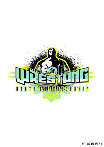 354x500 Wrestling Vector Logo Sport Stock Image And Royalty Free Vector