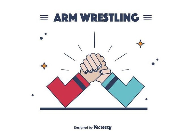 632x443 Arm Wrestling Vector Free Vector Download 403673 Cannypic