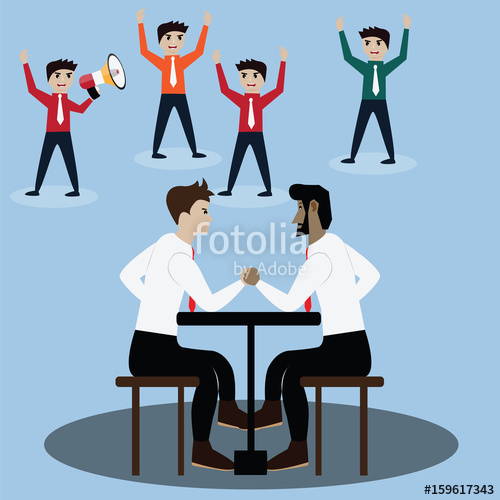 500x500 Business Competition Concept,arm Wrestling