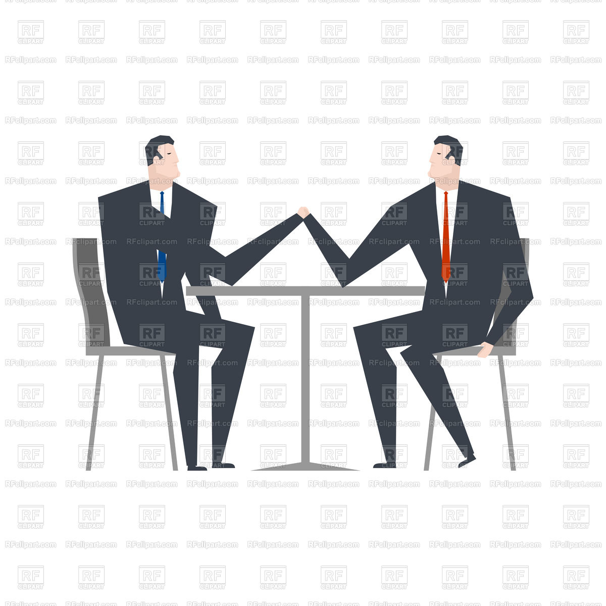 1200x1200 Businessman Is An Arm Wrestling Vector Image Vector Artwork Of
