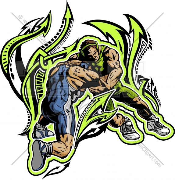 574x590 Wrestlers Clipart Clipart Image. Easy To Edit Vector Format