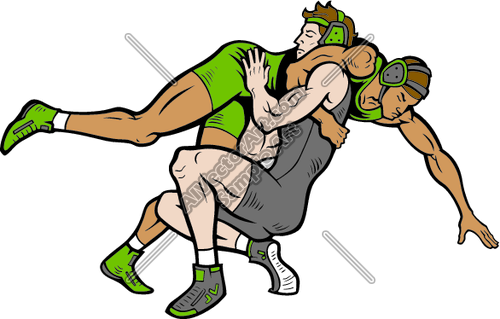 500x319 Wrestlers Clipart And Vectorart Sports