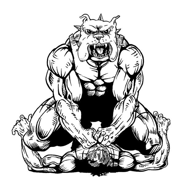 583x600 Bulldog Clipart Wrestling