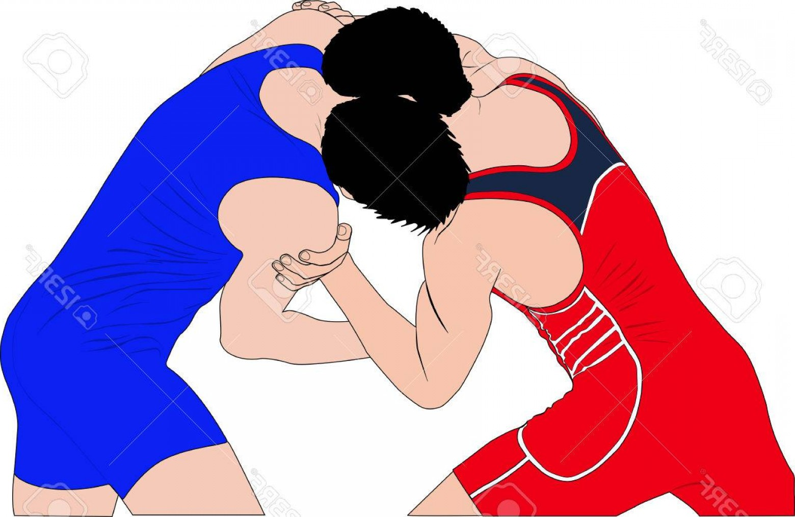 1560x1014 Photostock Vector Two Men Wrestlers In Greco Roman Wrestling At