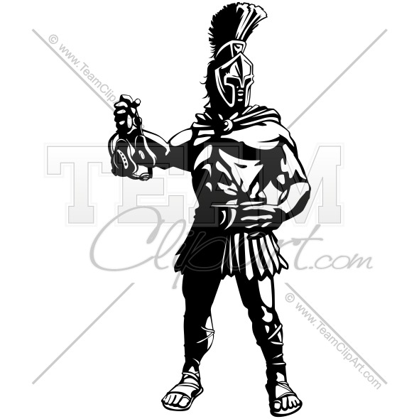 590x590 Spartan Wrestling Clipart Image. Easy To Edit Vector Format.