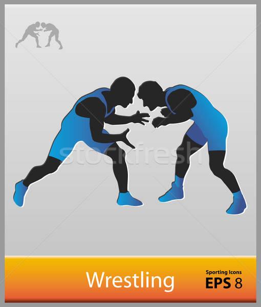 510x600 Wrestling Vector Illustration Abdulsatarid ( 1736479) Stockfresh