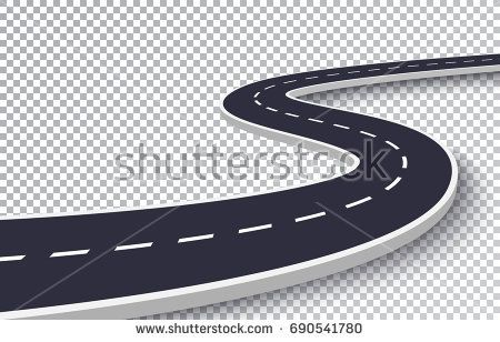 450x308 Winding Road Isolated Transparent Special Effect. Road Way