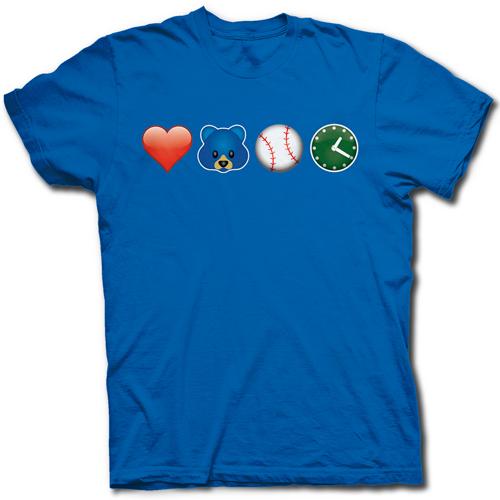 500x500 Chicago Cubs Fan Emoji Wrigley Field Baseball Love T Shirt