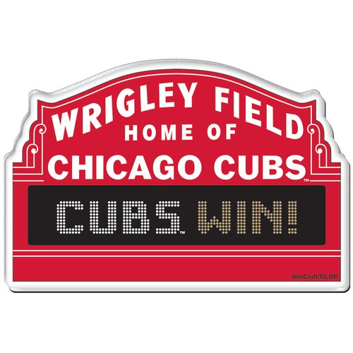500x500 Chicago Cubs Wrigley Field Marquee Premium Acrylic Magnet By Wincraft