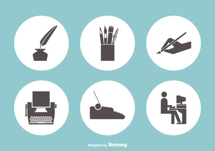 700x490 Writing Vector Icons