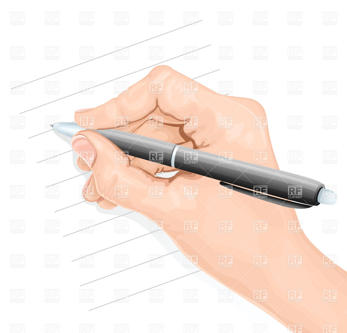 1200x1152 Hand With Pen Writing Vector Image Vector Artwork Of Objects