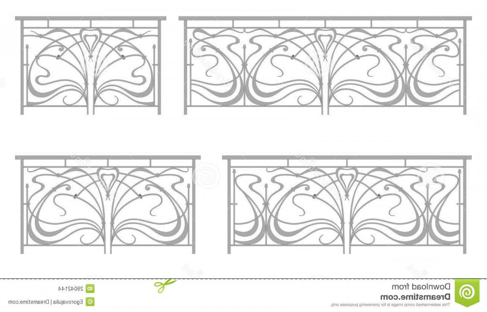 1560x1000 Stock Images Vector Set Wrought Iron Fence Grilles Image Lazttweet