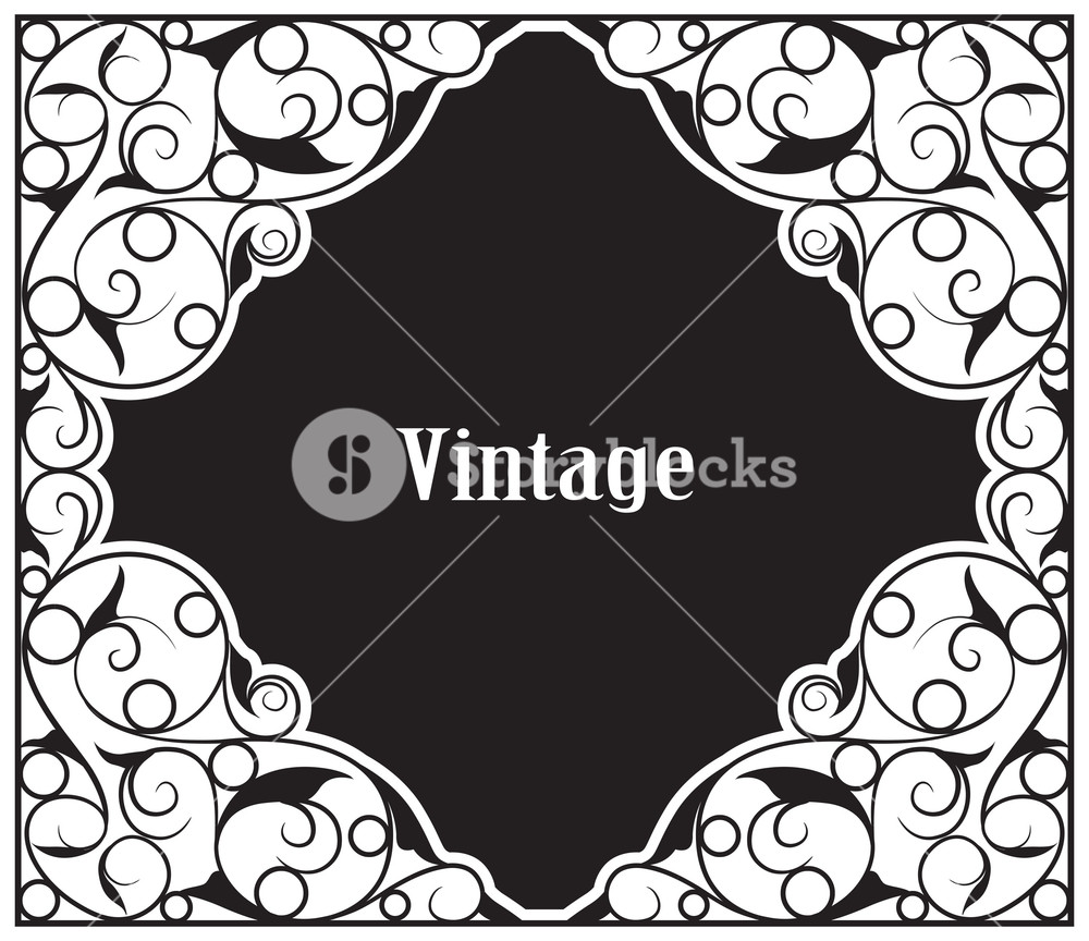 1000x864 Vector Vintage Wrought Iron Sign Royalty Free Stock Image