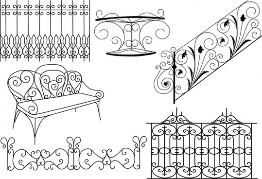 539x368 Vector Wrought Iron Fence Free Vector Download (375 Free Vector