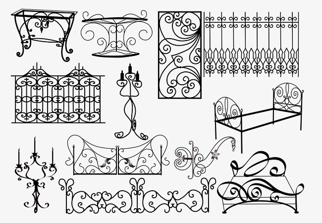 650x450 Wrought Iron Fence Vector Lines, Vector Iron, Vector Lines