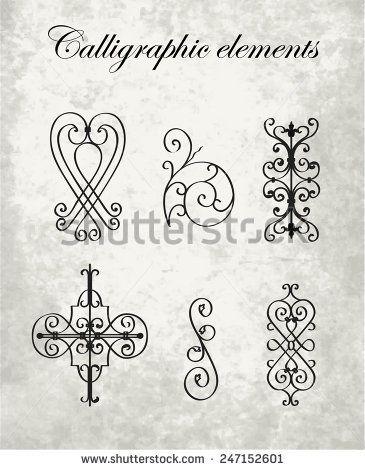 365x470 Calligraphic Elements