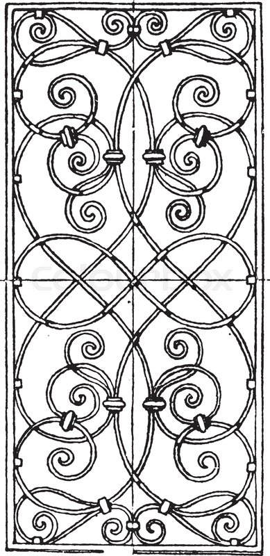 389x800 Wrought Iron Grill Oblong Panel Is A 17th Century Design Found In