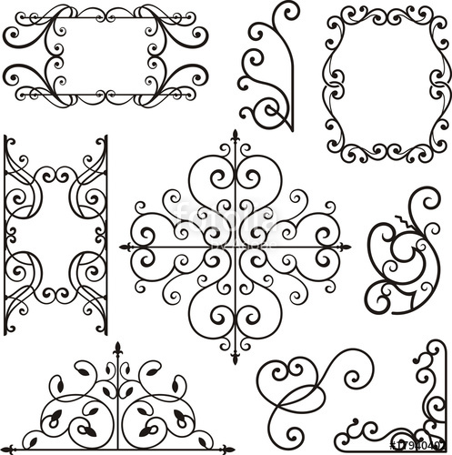 497x500 Wrought Iron Ornamental Designs Stock Image And Royalty Free