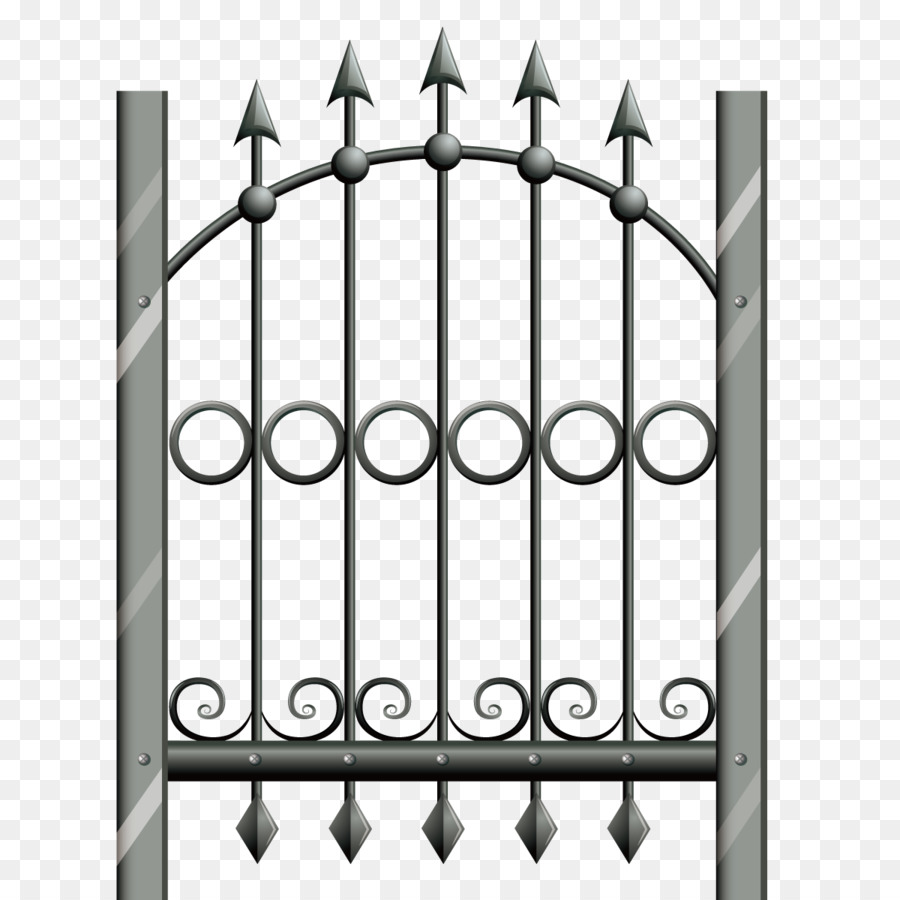 900x900 Download Euclidean Vector Fence Iron Vector Wrought Iron Fence