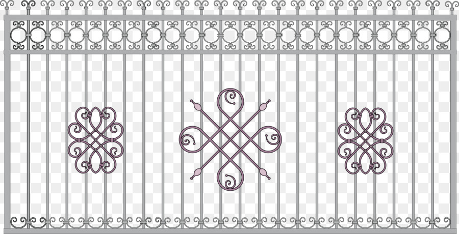 900x460 Download Wrought Iron Fence Gate Grille Iron Vector