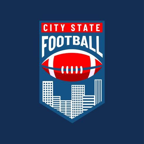 490x490 American Football Logo City Team Vector