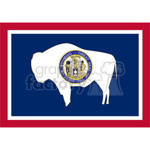 300x300 Royalty Free Vector State Flag Of Wyoming 384551 Vector Clip Art