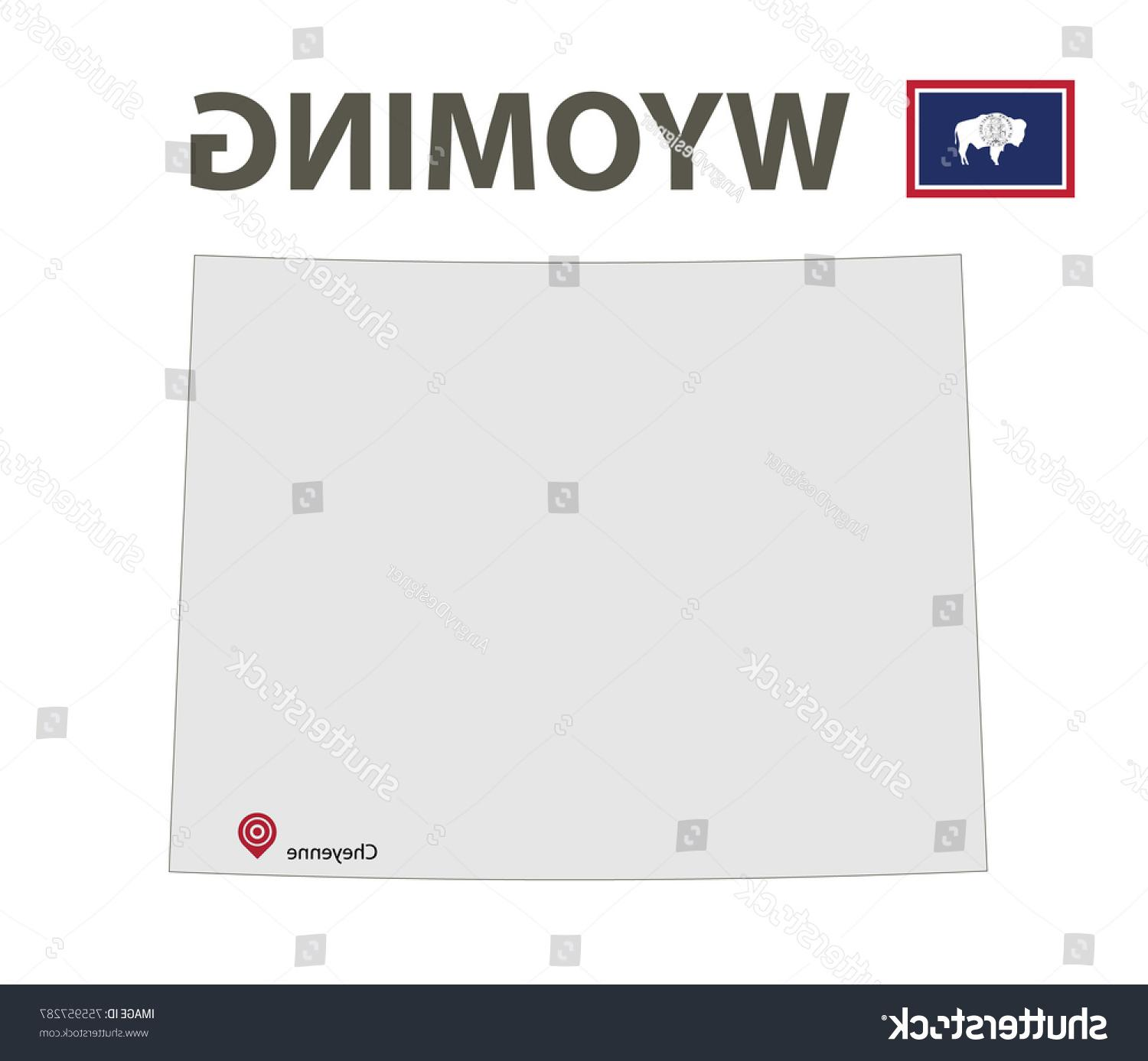 1500x1387 Top Stock Vector Flag And Map Of Wyoming Illustration Pictures