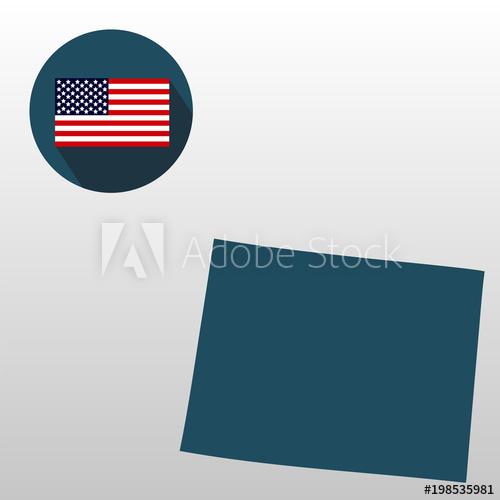 500x500 U.s. State On The U.s. Map Wyoming On A White Background. American