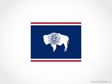 460x345 Vector Map Of Wyoming