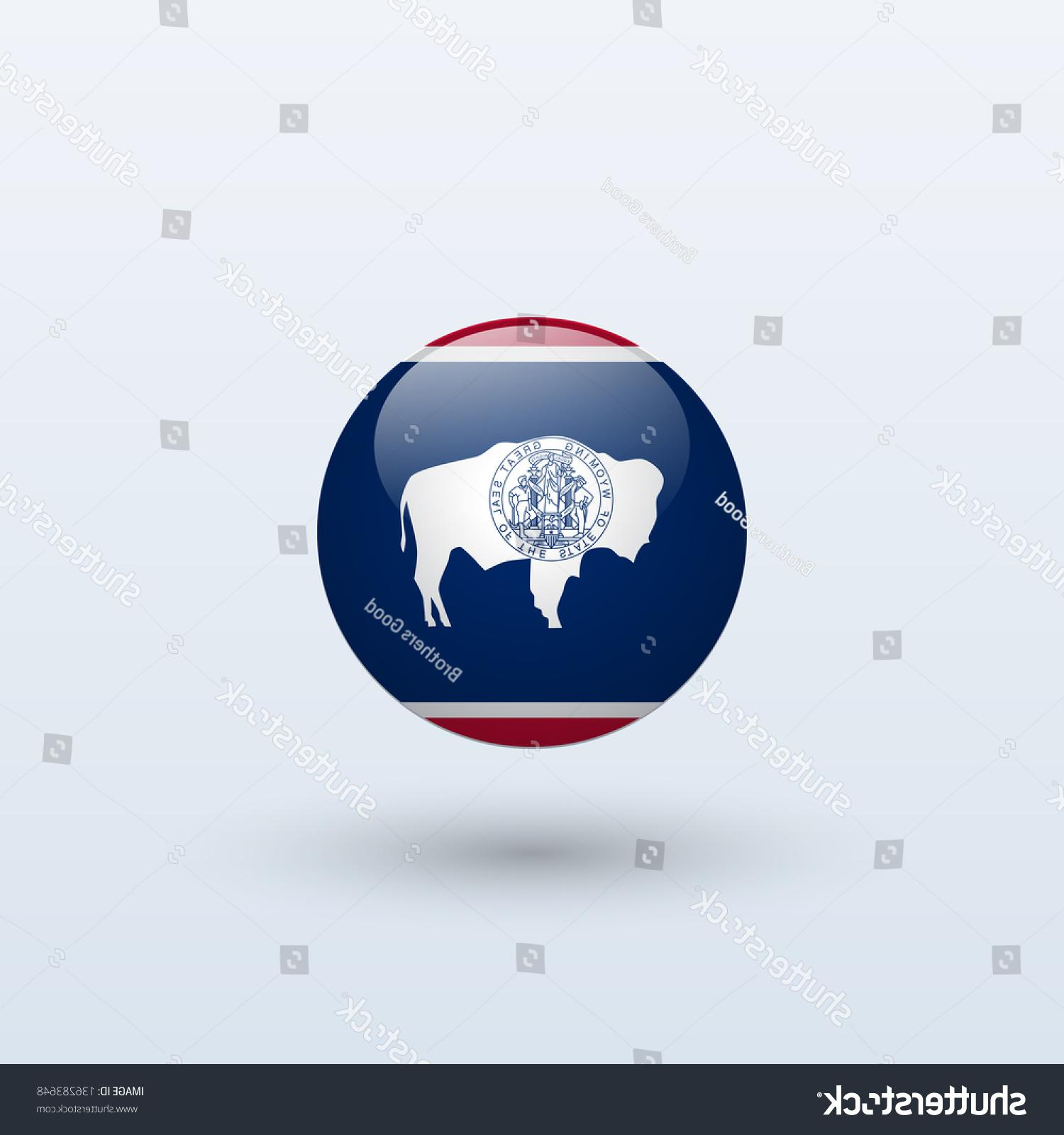1500x1600 Best Hd Stock Vector State Of Wyoming Flag Circle Form On Gray