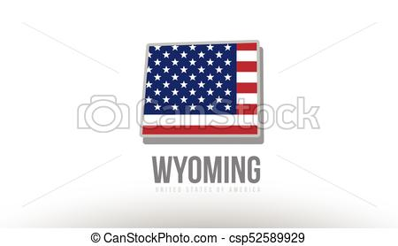 450x278 Vector Illustration Of Wyoming County State With United States