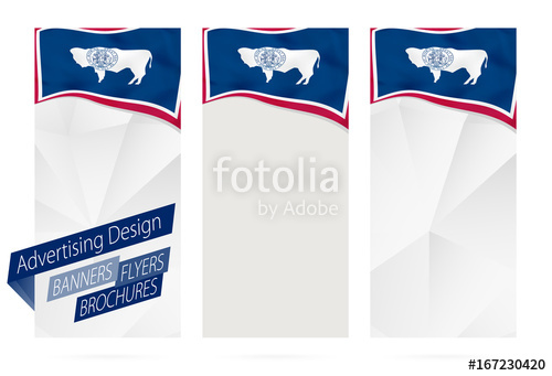 500x341 Design Of Banners, Flyers, Brochures With Wyoming State Flag