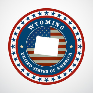 300x300 Wyoming Flag Background Royalty Free Vectors