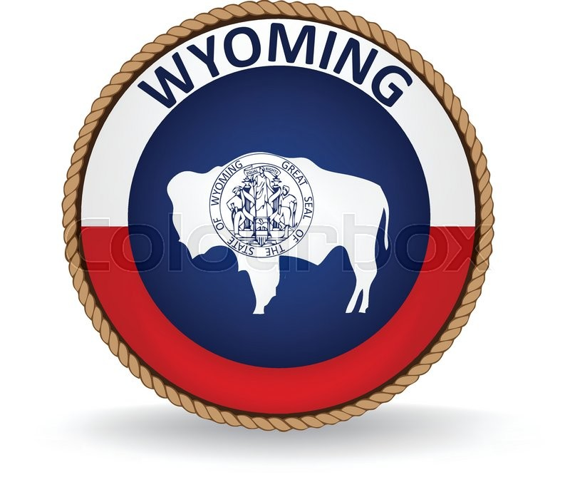 800x683 Flag Seal Of The State Of Wyoming. Stock Vector Colourbox