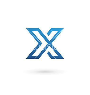 380x400 Letter X Logo Icon Design Template Elements Vector X Logo