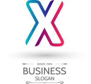 300x277 Modern Letter X Logo Vector (.eps) Free Download