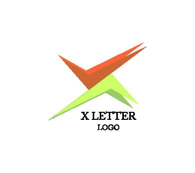 389x345 X Letter Tick Right Alphabet Vector Logo Inspiration Download