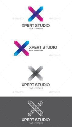 236x414 Xoroz Letter X Logo Graphic Design