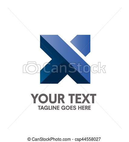 426x470 Creative Letter X Logo. Abstract Business Logo Design Template