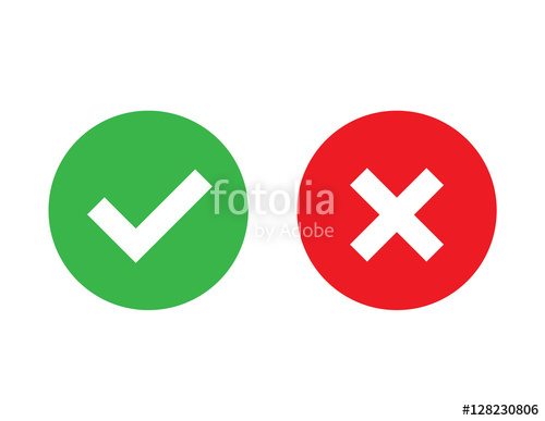 500x387 Check Mark And X Mark Icon Vector Stock Image And Royalty Free