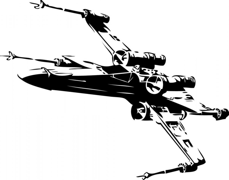 1228x966 Sticker Mural Star Wars X Wing Fighter Geekchicpro