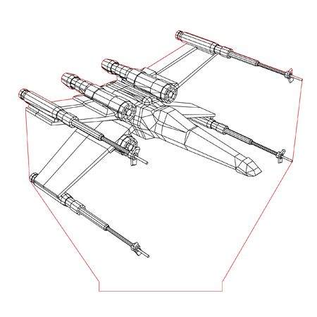 450x450 X Wing 3d Illusion Lamp Plan Vector File In 2018